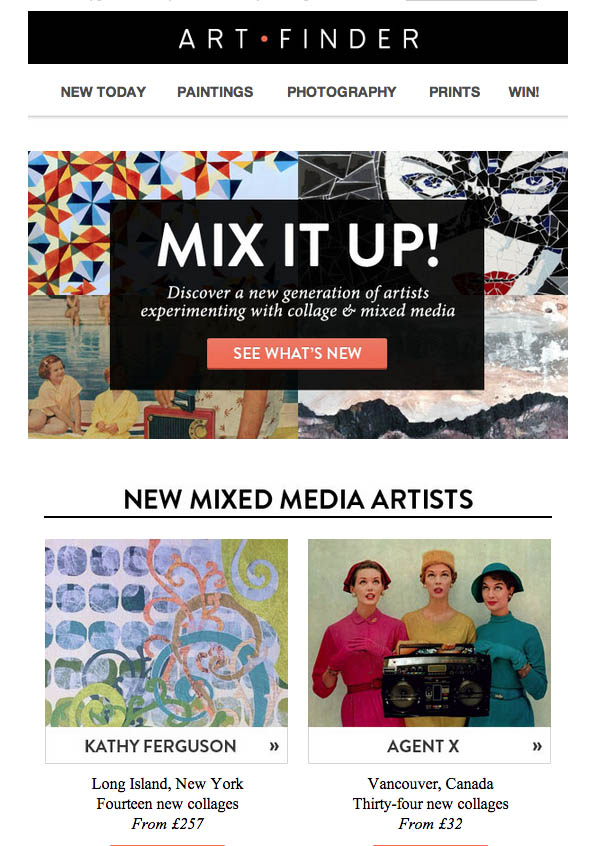 Art Finder Mixed Media newsletter