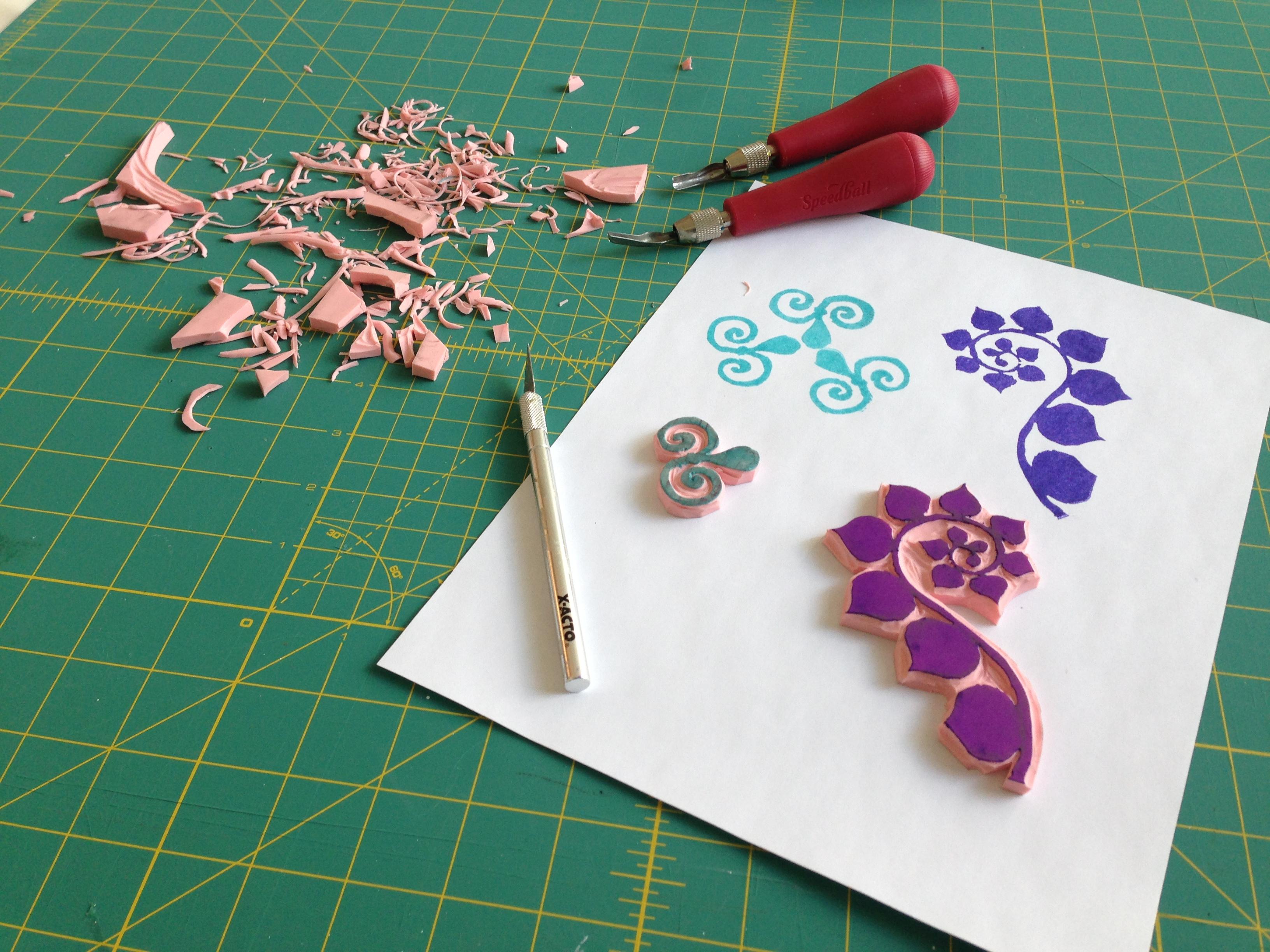 Stamp carving kathy ferguson